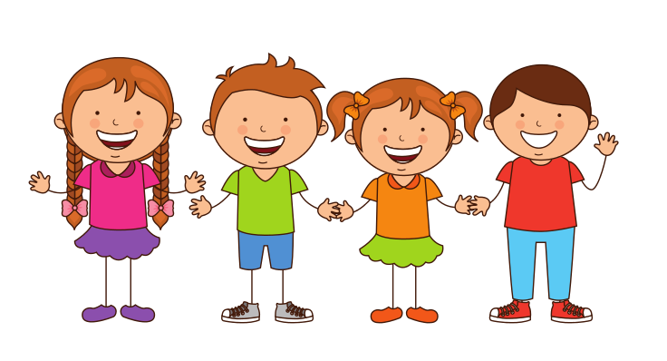 Small TALK Speech Therapy Group of kids cartoon